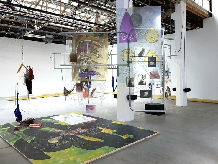 Julien Creuzet, Vue de l'exposition au Palais de Tokyo, 2019