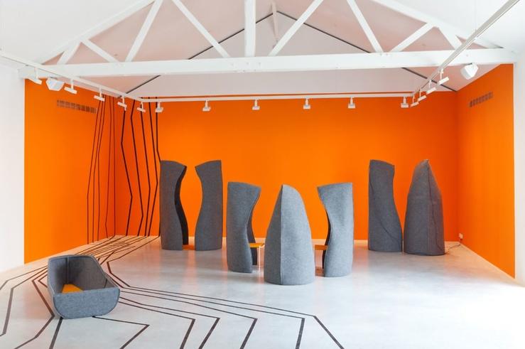 matali crasset, Vue de l'exposition matali crasset, Voyage en uchronie à la galerie Thaddaeus Ropac, Pantin, 2013