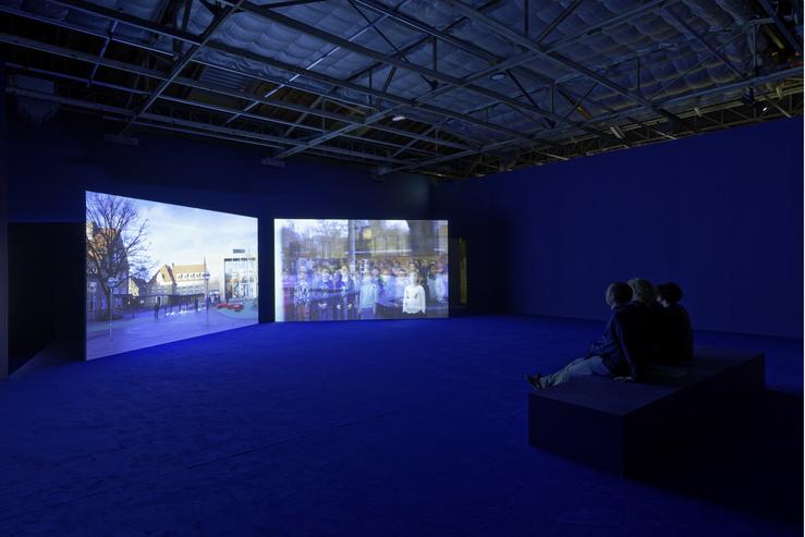 Angelica Mesiti, Vue de l'exposition Quand faire c'est dire, Palais de Tokyo, Paris, 2019