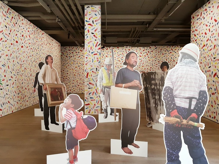 Pierre Leguillon, vue de l'exposition «見習うParler aux yeux, Learning from Looking», mars-avril 2019—Fondation d'entreprise Ricard