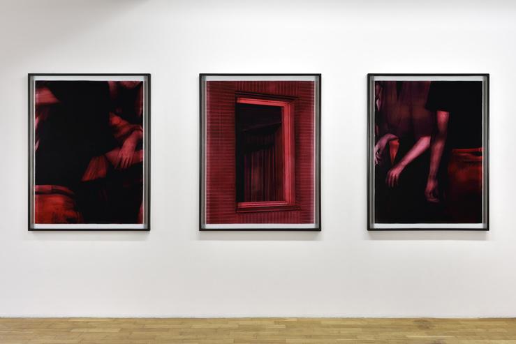 Vue de l'exposition Lenny Rébéré, Infras, galerie Isabelle Gounod, PAris, 2019