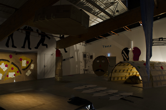 Vue de l'exposition dans la galerie du Confort Moderne, mars 2019