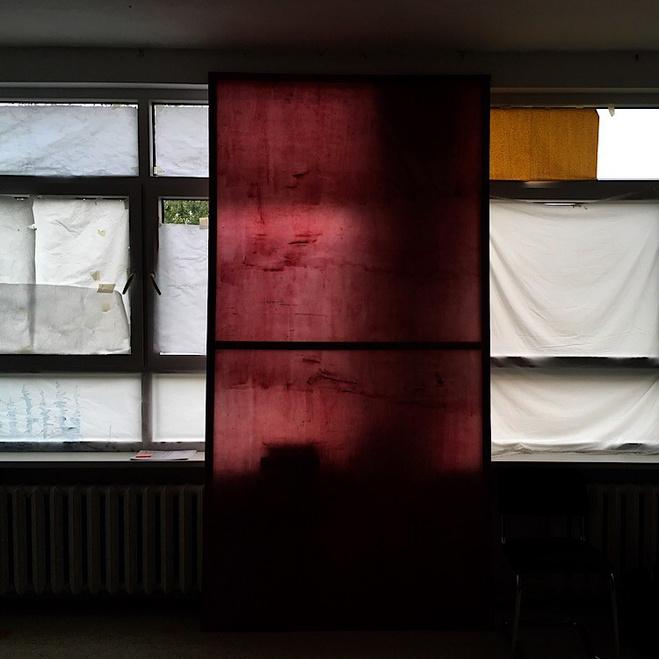 Vue de l'installation «I eat sky, I excrete sky», 2017