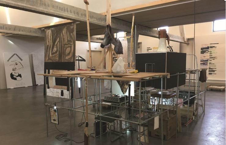 Ante Timmermans, Vue de l'exposition Rien de nier de rien, Les Tanneries, Amilly