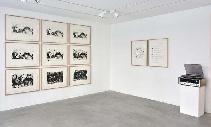 Vue de l'exposition Mirages linéaires de Capucine Vever