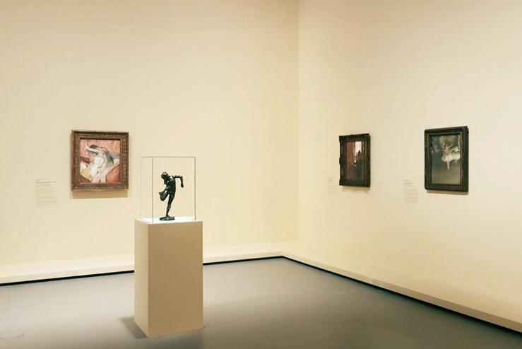 Vue de l'exposition La Collection Courtauld—Le Parti de l'Impressionnisme à la Fondation Vuitton, Paris, 2019