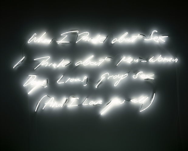 Tracey emin artiste biographie exposition when i think about sex 2005 neon 1 medium