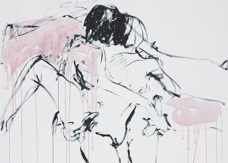 Tracey Emin, Spending time with you, 2015 (Détail)—Acrylique sur toile, 152,5 × 152,2 cm