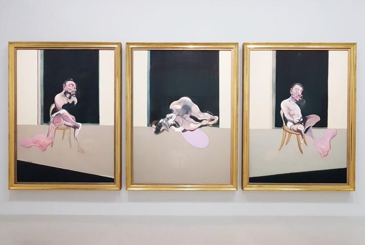 Vue de l'exposition Bacon en toutes lettres, Centre Pompidou, Paris, 2019