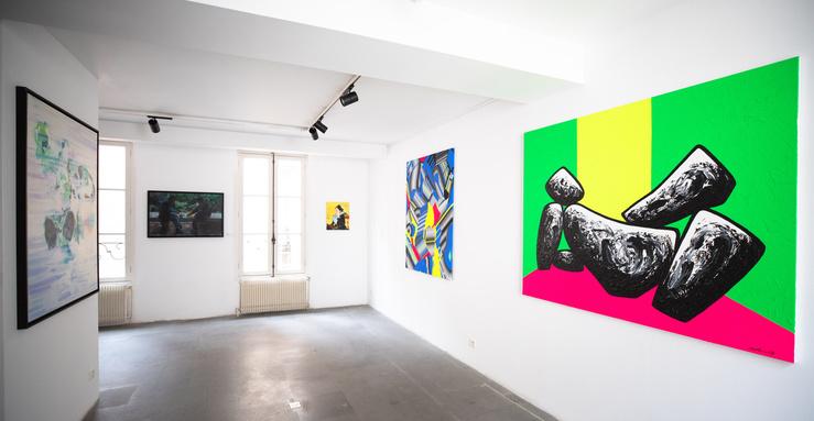 Vue de l'exposition 10 ans déjà !,A2Z Art Gallery, Paris, 2019