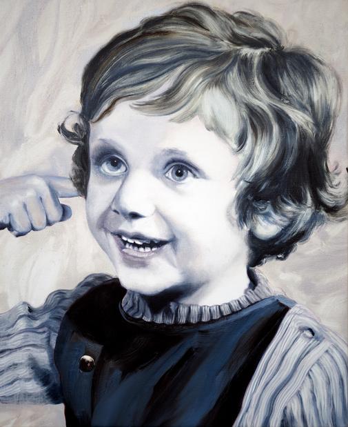 Ludovic chemarin ludovic chemarin enfant sur fond gris huile sur toile peinte par gael davrinche 2018 ludovic chemarin 1 medium