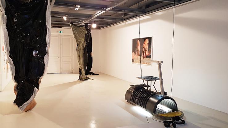 Vue de l'exposition Désolé à la Galerie Edouard-Manet, Gennevilliers, 2019