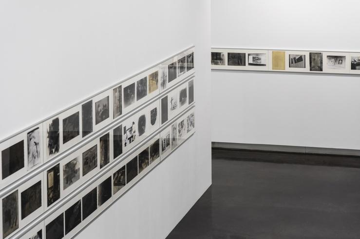 Vue de l'exposition Les infamies photographiques de Sigmar Polke, Le BAL, 2019