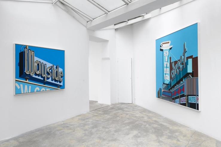 Vue de l'exposition Robert Cottingham—Fictions in the Space Between