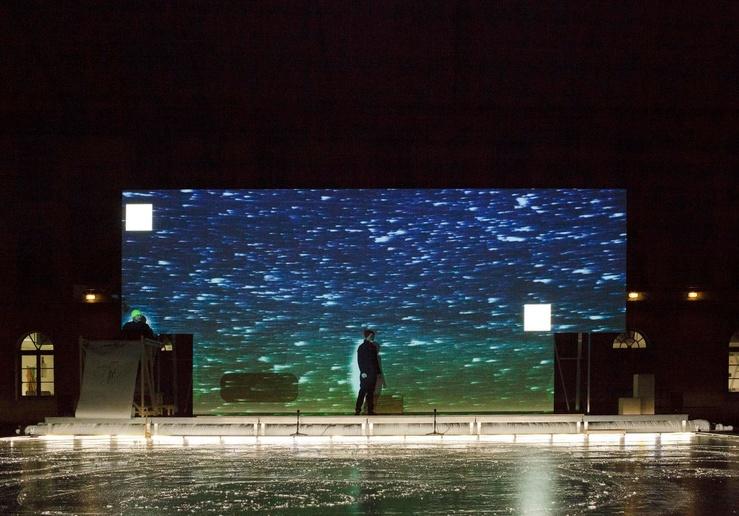 Xavier Veilhan, Compulsory Figures, une performance avec Stephen Thompson, danseur et patineur, de décembre 2019 à février 2020