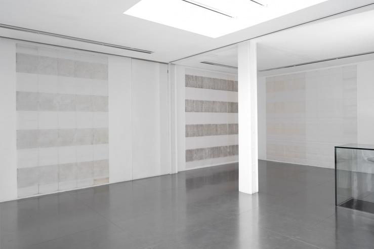 Vue de l'exposition Michel Parmentier, Calques—Tracing Papers 1989—1991, galerie Loevenbruck, Paris, 2019
