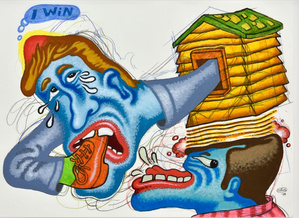 Peter saul almine rech galerie paris exposition 1 1 small2