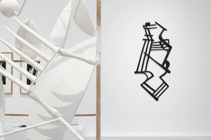 Vue de l'exposition À la recherche des œuvres disparues, Institut Giacometti, Paris, 2020