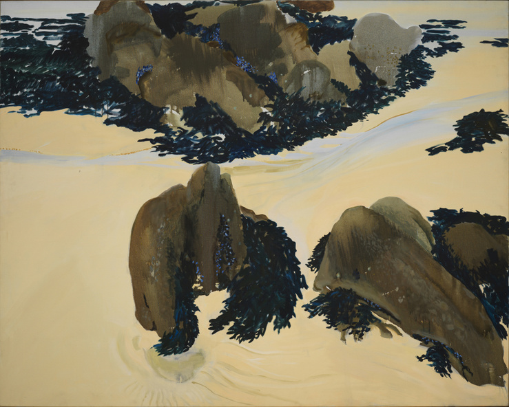 Gilles Aillaud, Rochers d'Audierne, 1985—Huile sur toile—160 × 200 cm