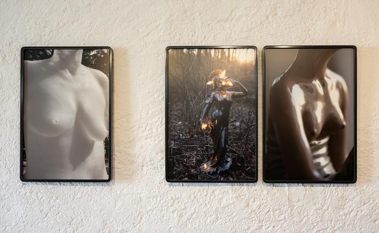 Dana Hoey, vue de l'exposition La Puissance et la grâce—Galerie Analix Forever, Genève