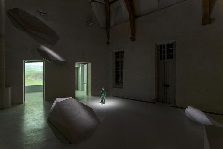 Vue de l'exposition La Dérive des Météores d'Aurélie Slonina à La Maréchalerie—centre d'art contemporain / ENSA- Versailles, 2020