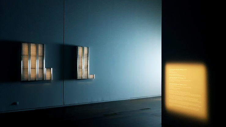 Vue de l'exposition Brognon Rollin, L'Avant-dernière version de la réalité au MAC VAL, Vitry, 2020
