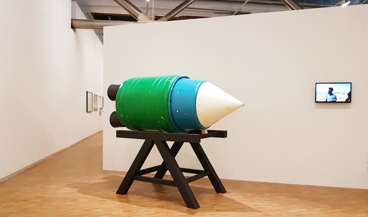 Vue de l'exposition Chine Afrique, Centre Pompidou, Paris