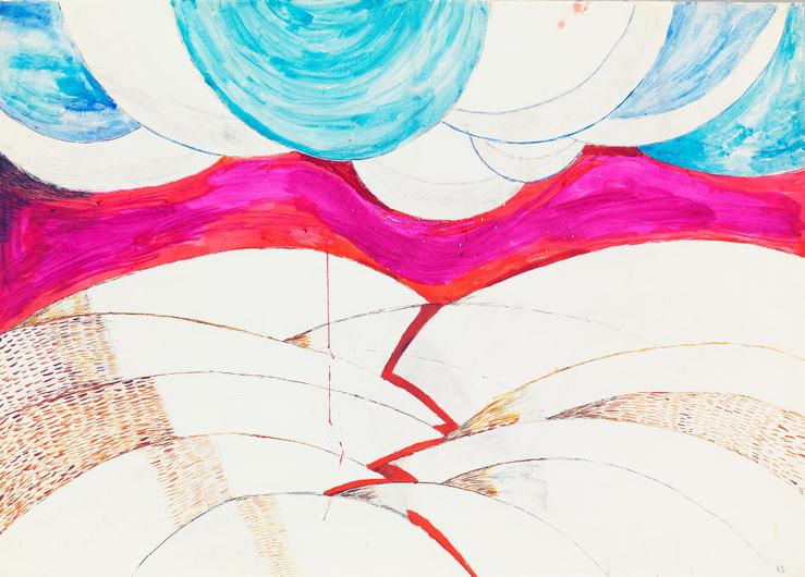 Louise Bourgeois, Sans titre, 1970, Feutre et encre sur papier, 74 x 104,8 cm