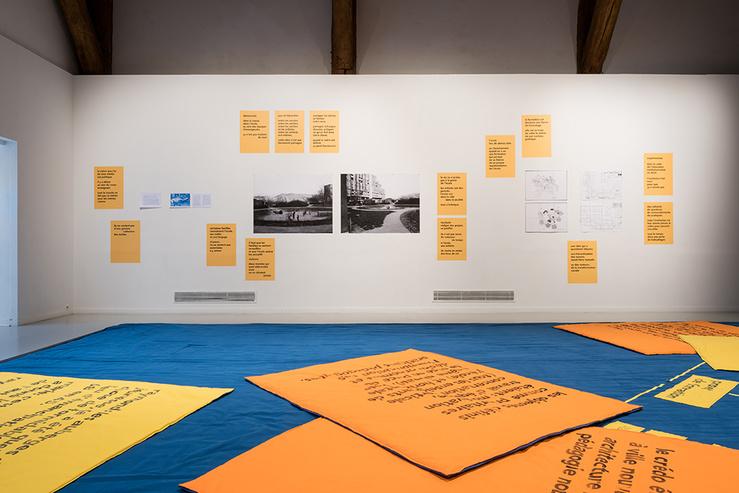 Marie Preston, Maison Imprimerie, vue de l'exposition Du pain sur la planche, 2019, Ferme du Buisson