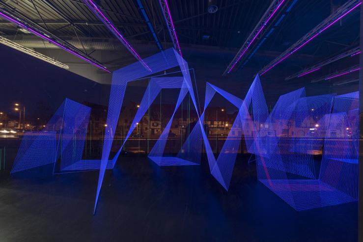 Vue de l'exposition Jeongmoon Choi : Le Pouls de la Terre (92), The Pulse of the Earth, installation in situ, 2020