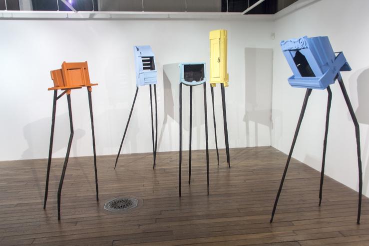 Téo Betin, vue de l'exposition Récupération poétique, Maison des arts Solange-Baudoux, Évreux