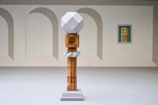 Vue de l'exposition Gnomonica, MNAC—Musée National d'Art Contemporain, Bucarest (RO)