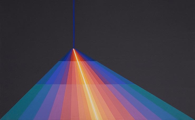 Horacio Garcia Rossi, Couleur lumière ombre positive triangle, 2008 (Détail)