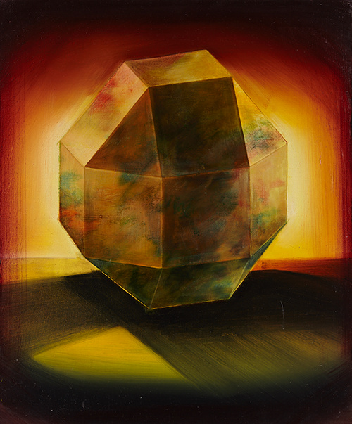 Filles du calvaire rhombicuboctahedron acryl and oil on canvas 55x46 cm 2018 bd 1 medium