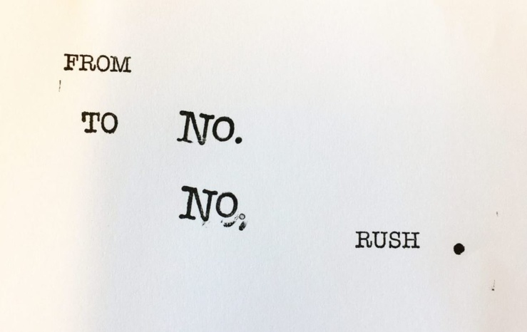 Ana Mendes, From No. To No Rush. (Détail)
