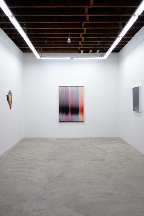 Vue de l'exposition Order & Vertigo, duo show avec Derrick Velasquez, Galerie Carvalho Park, New York
