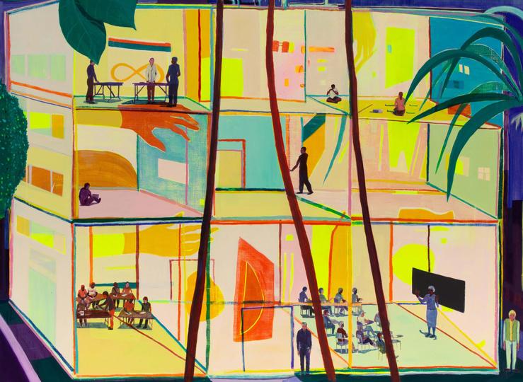 Jules de Balincourt, They Each Had Their Lesson, 2020 —177.8 x 203.2 cm