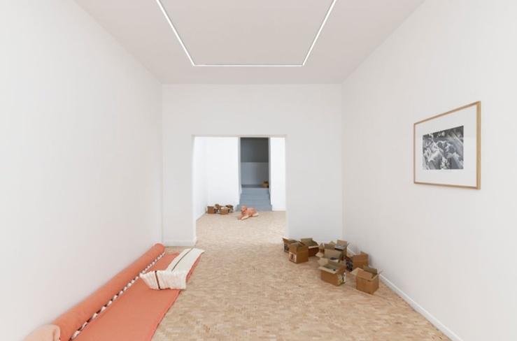 Vue de l'exposition De l'Amitié, 2019, galerie Marcelle Alix, Paris