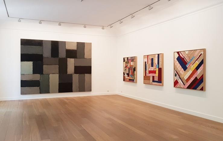 Vue de l'exposition Rythmes et vibrations, galerie Lelong & Co., Paris