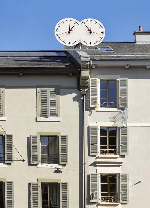 Les Inséparables, installation permanente, Genève, Suisse, 2000-2016