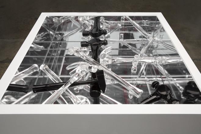 Sculptures en verre, vue d'exposition, Wasserman Projects, Détroit, États-Unis, 2016