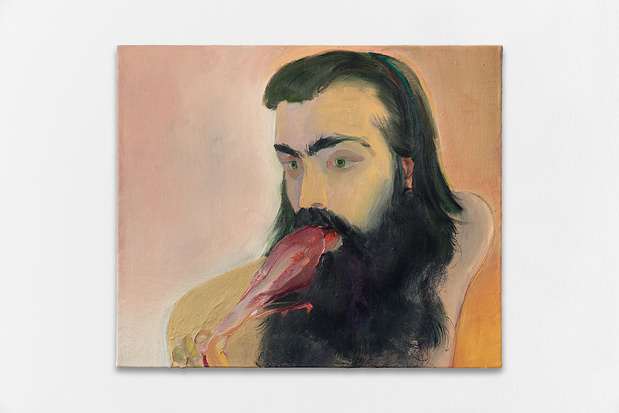 Xinyi cheng galerie balice hertling palais de tokyo peinture xinyi cheng smoked turkey leg 2018 oil on canvas 46 x 55 x 2.5 cm 1 medium