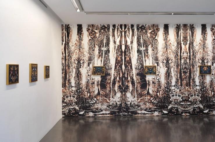 Vue de l'exposition de Philippe Mayaux, Butterfly Divinities, galerie Loevenbruck, Paris, 2020