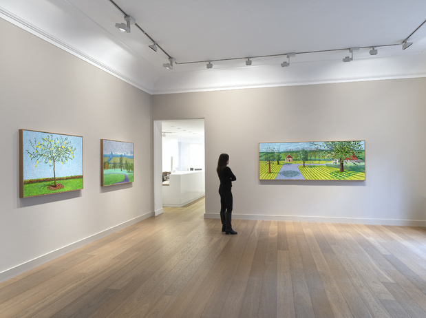 David hockney galerie lelong & co paris exposition peinture 1 1 medium