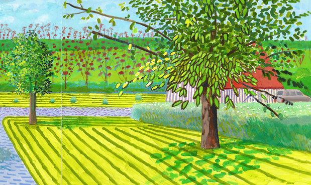 David Hockney, Ma Normandie — Galerie Lelong & Co.