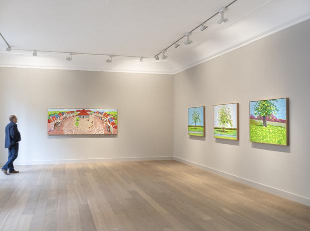 David hockney galerie lelong & co paris exposition peinture 14 1 medium