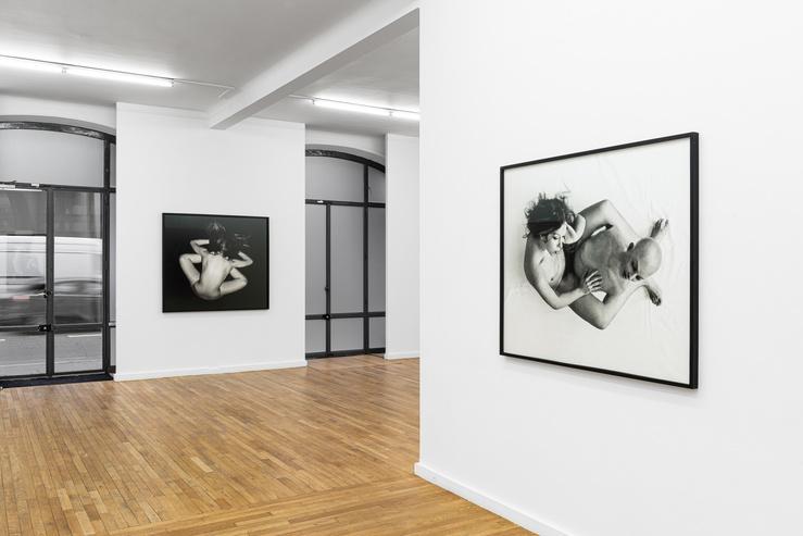 ORLAN, vue de l'exposition Striptease historique, galerie Ceysson & Bénétière, Paris, 2021