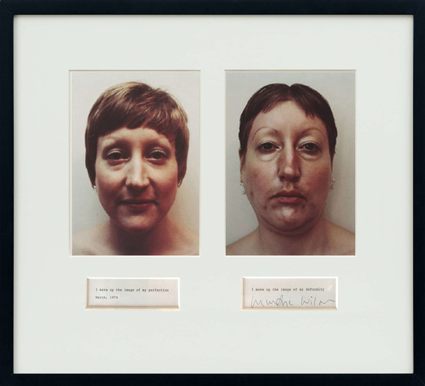 Fiaconlineviewingrooms martha wilson i make up the image of my perfection i make up the image of my deformity 1974 2009 medium