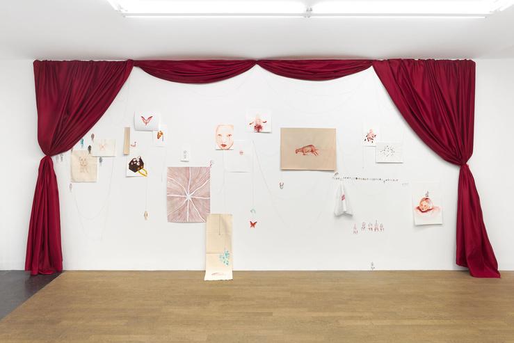 Odonchimeg Davaadorj, vue de l'exposition Phusis, galerie Backslash, Paris, 2021