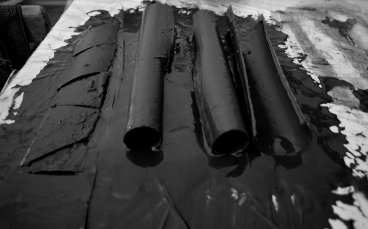 Cécile Hartmann, Untitled (Broken Pipeline), 2019